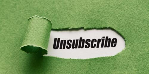 Newsletter : éviter les désabonnements.