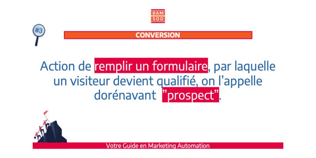 B.A.-BA du marketing automation, le jargon expliqué - Conversion