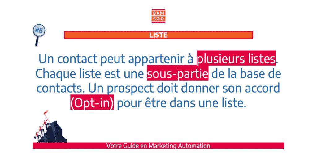 B.A.-BA du marketing automation, le jargon expliqué - Liste