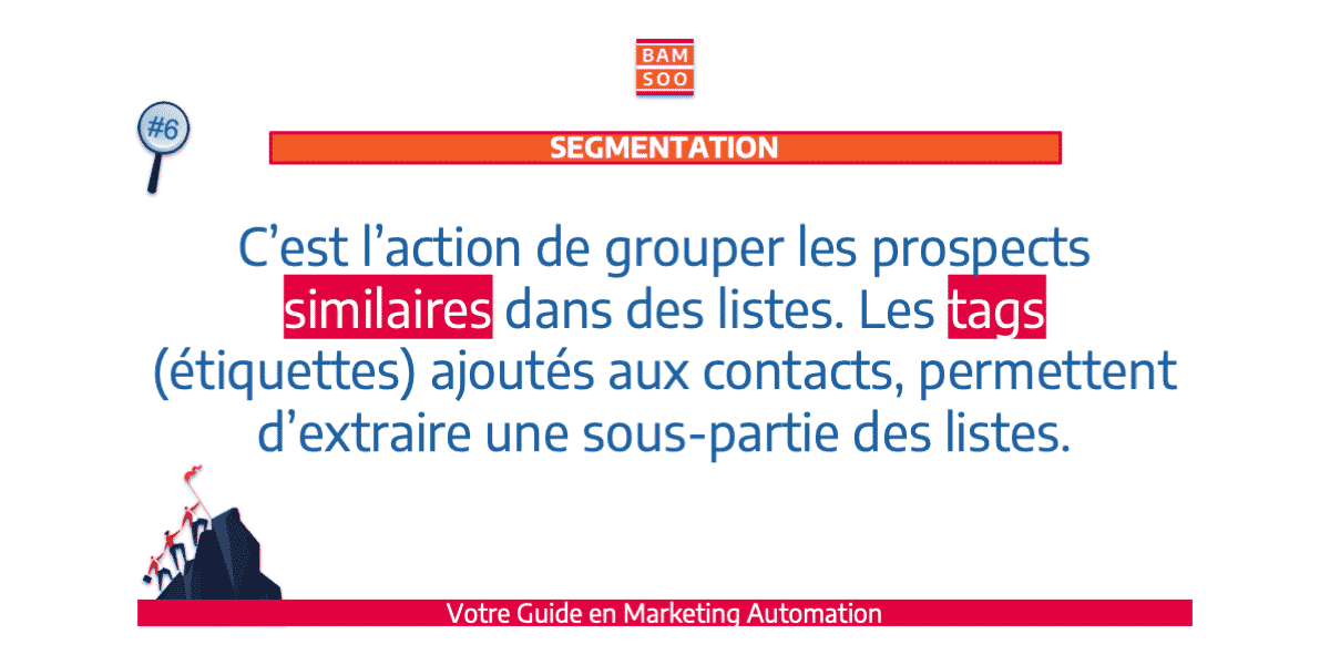 B.A.-BA du marketing automation, le jargon expliqué - Segmentation