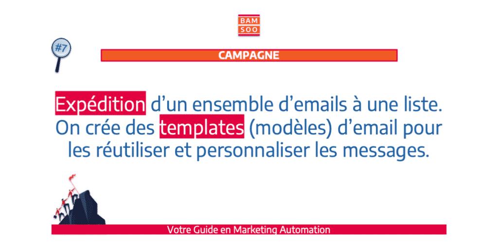 B.A.-BA du marketing automation, le jargon expliqué - Campagne