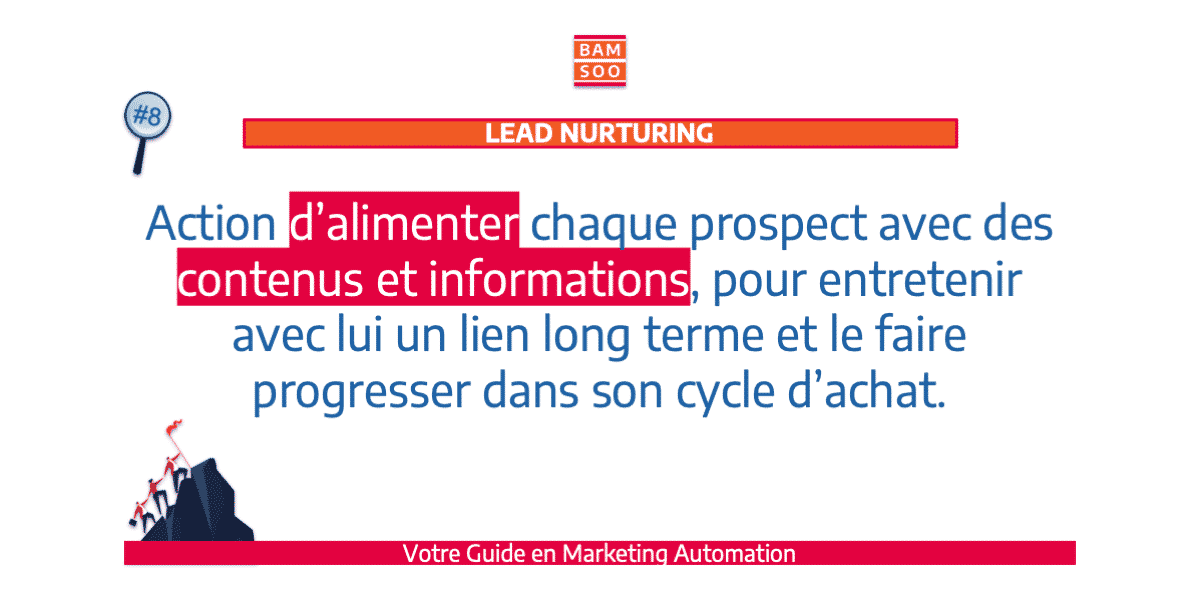 B.A.-BA du marketing automation, le jargon expliqué - Lead Nurturing