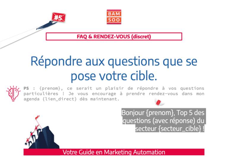Marketing Automation : Bases simplifiées d'un onboarding B2B efficace - Donnez des réponses aux FAQs