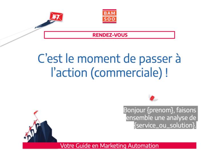 Marketing Automation : Bases simplifiées d'un onboarding B2B efficace - Action commerciale