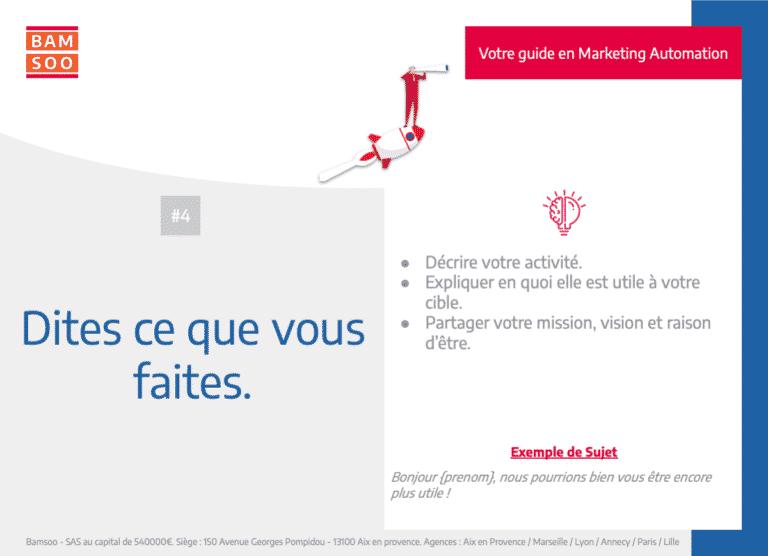Marketing Automation : Bases expliquées d'un onboarding B2B efficace - Parlez de votre activité