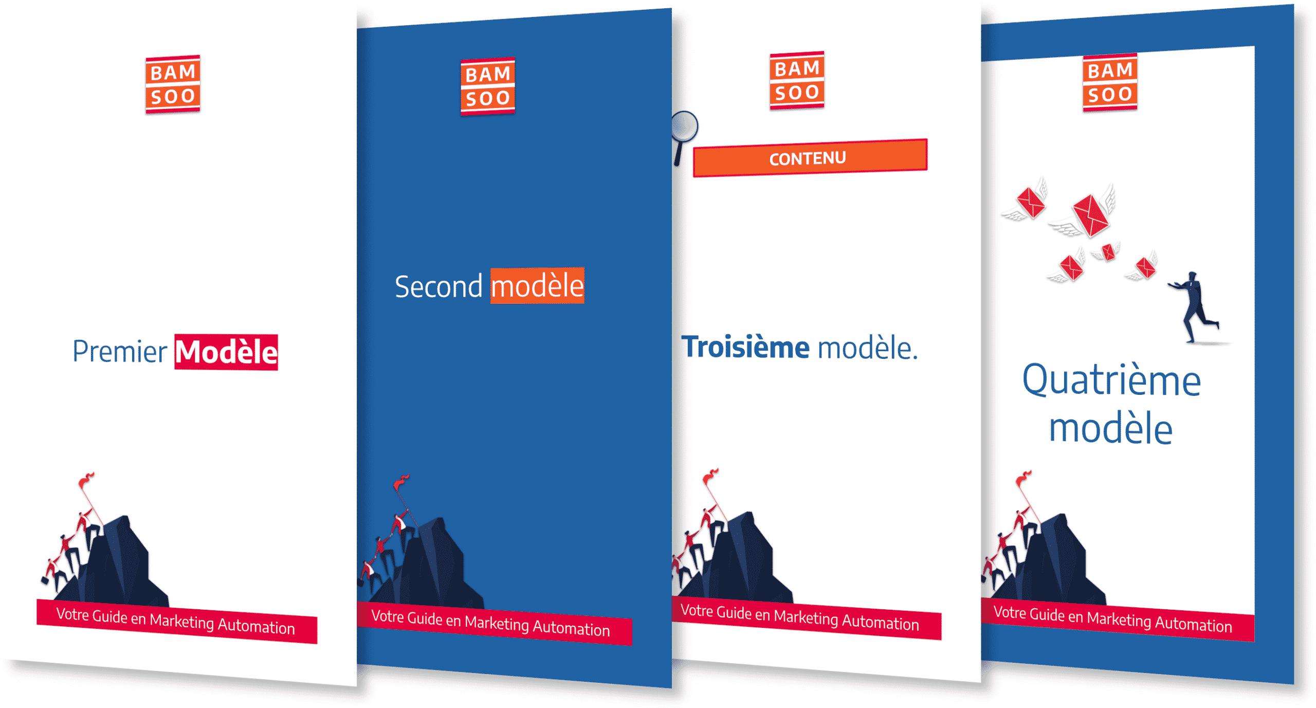 Exemple de modèles simples de page de PDF